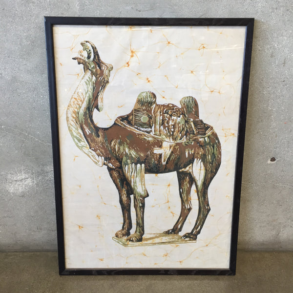 Framed Batik with Camel Print