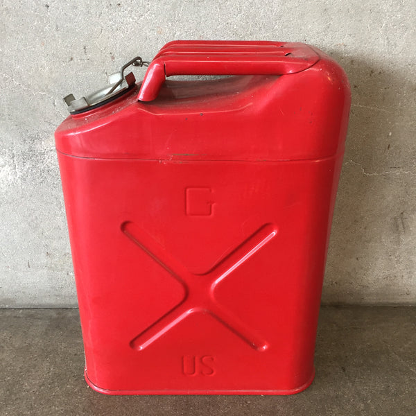 Vintage Red Five Gallon Jerry Can