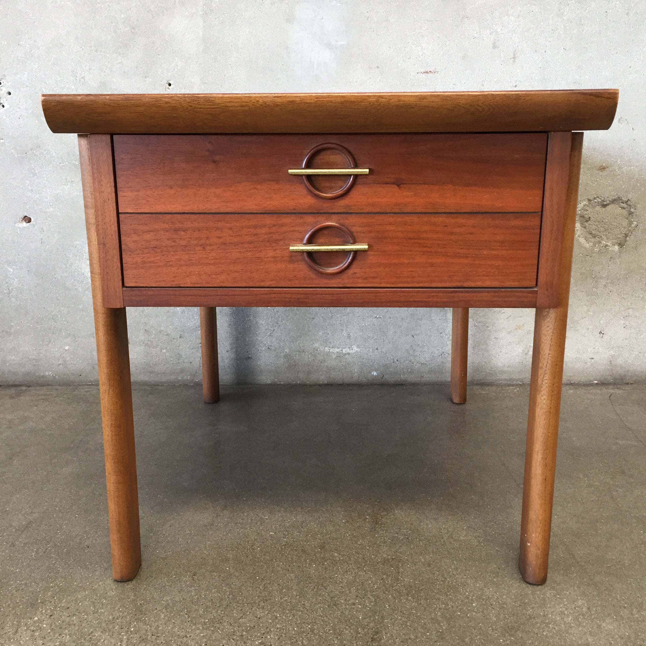 Mid Century Vintage Lane Side Table with Drawer