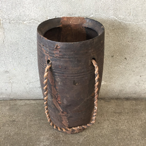 Old Wood Pot Vase