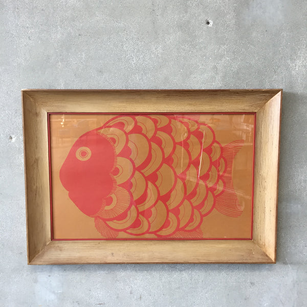 Vintage Hand Pulled Japanese Screen Print