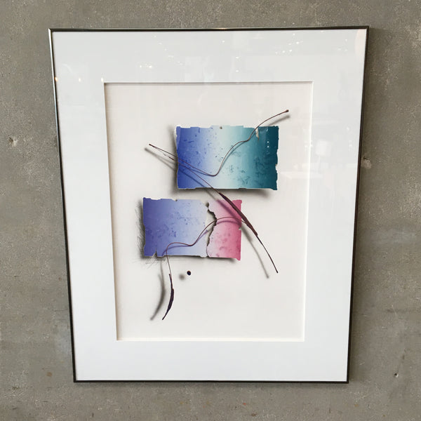 Framed & Signed Post Modern Artwork