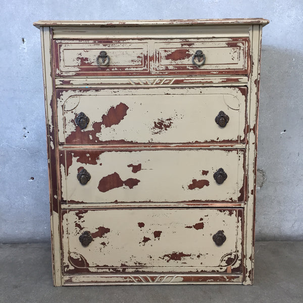 Vintage Distressed Four Drawer Dresser
