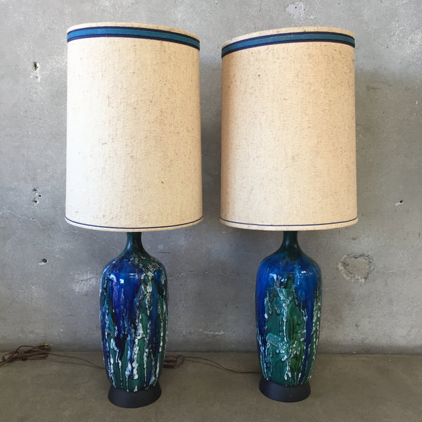 Pair of Mid Century Modern Ceramic Lamps