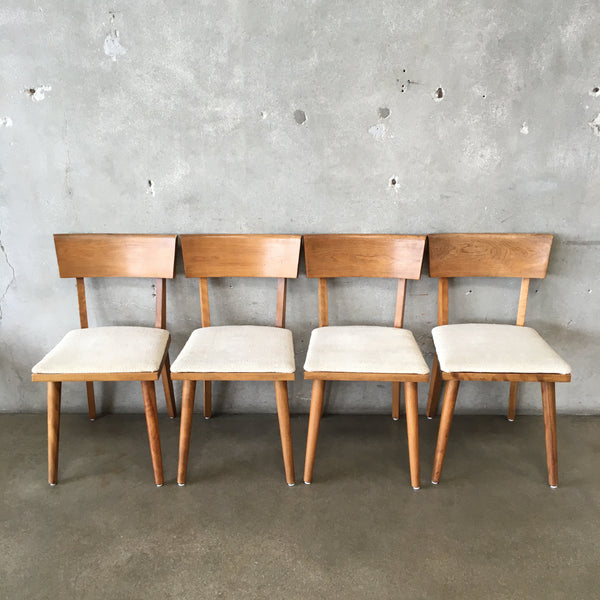 Set of Four Mid Century Russel Wright for Conant Ball Dining Chairs