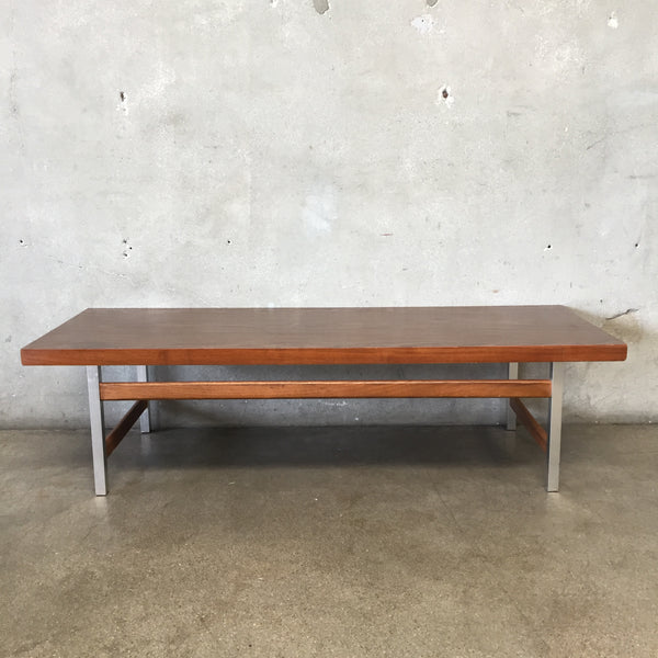 Mid Century Chrome & Laminate Coffee Table by Lane