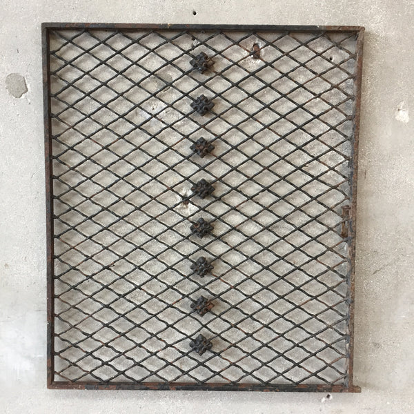 Iron Vintage Window Screen