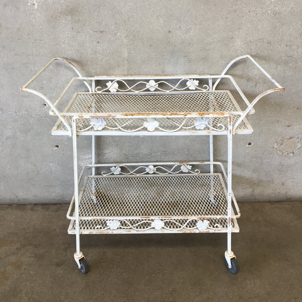 Iron Vintage Patio Tea Cart