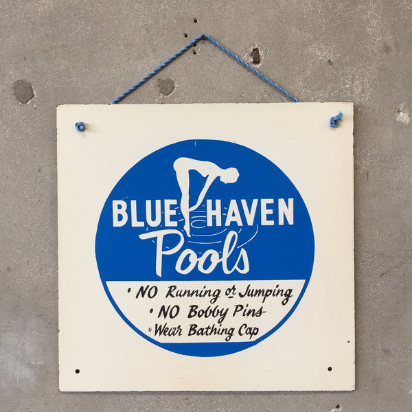 Vintage 1960's Blue Haven Pools Sign