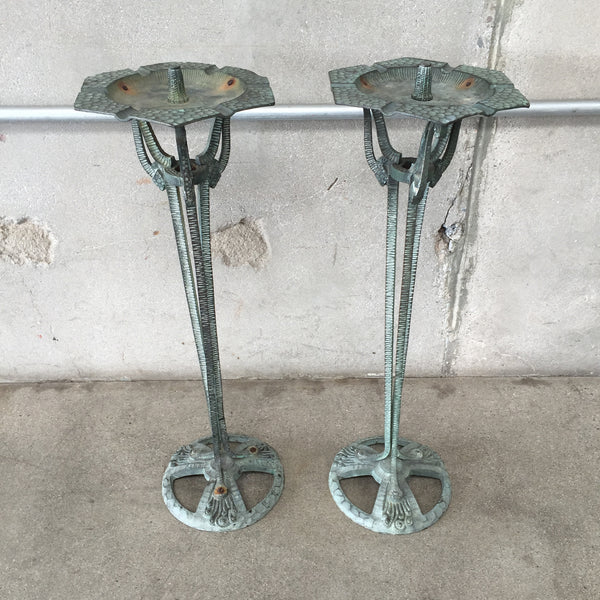 Art Deco Ashtray Stands - Pair