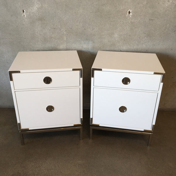 Pair of West Elm Malone White Nights Stands