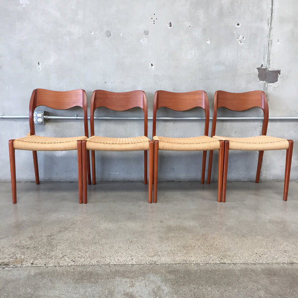 Danish Modern Dining Chairs by Niels Otto Moller