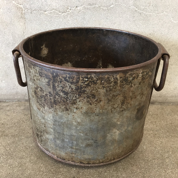 Vintage Iron Pot with Handles