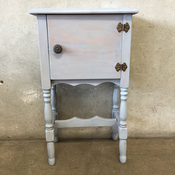 Vintage Side Table with Door