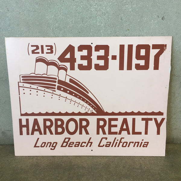 Long Beach CA Harbor Realty Sign