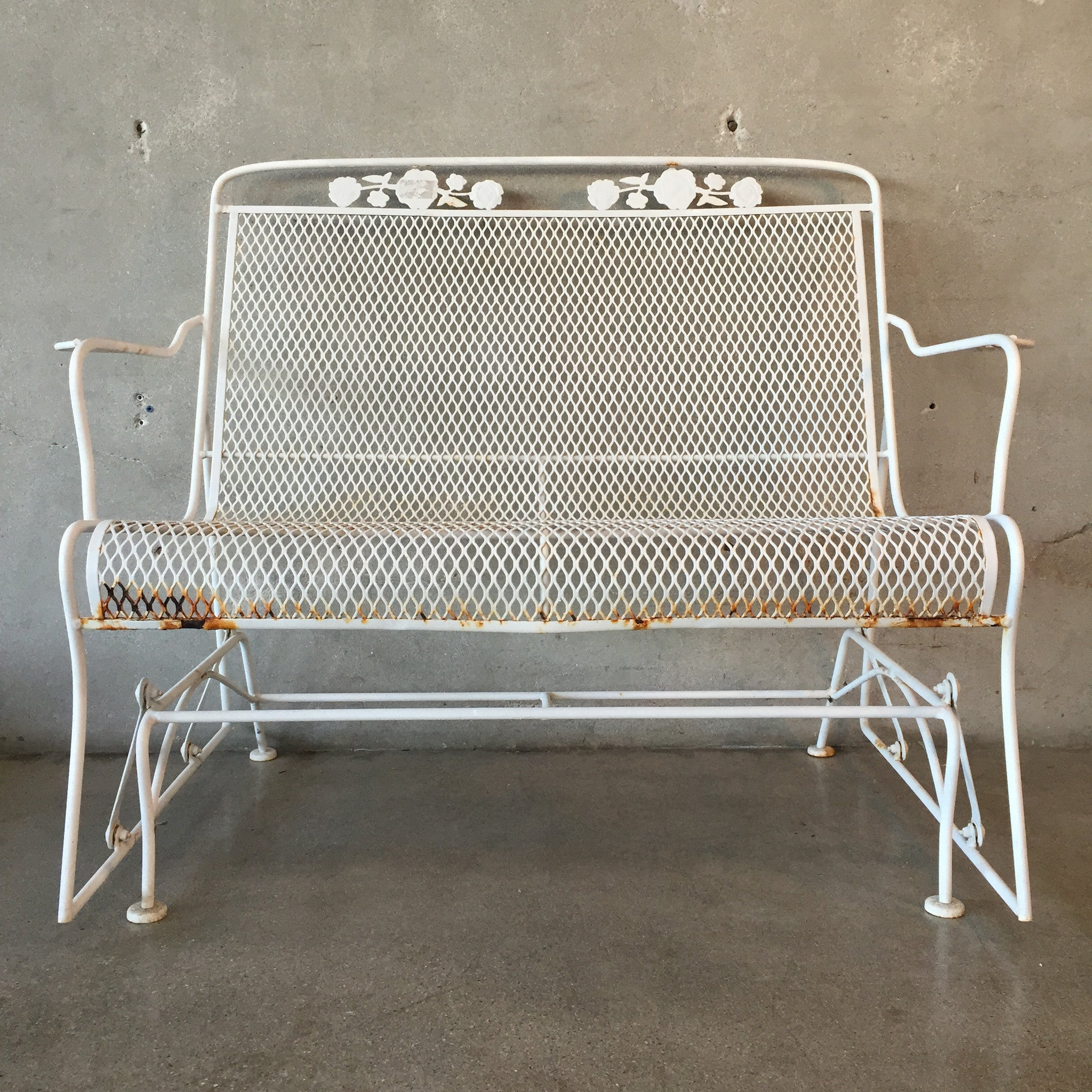 Vintage Outdoor Glider Loveseat ...