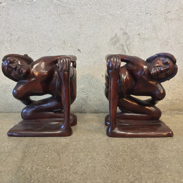 Big Footed Carved Bookends