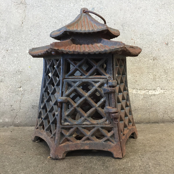 Outdoor Cast Iron Pagoda Candle Holder