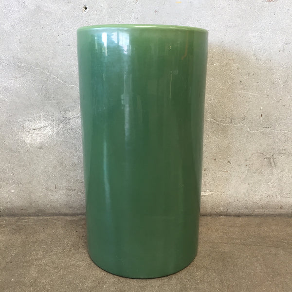 Bauer Hand Thrown Mid Century Dark Green Glaze Sand Jar