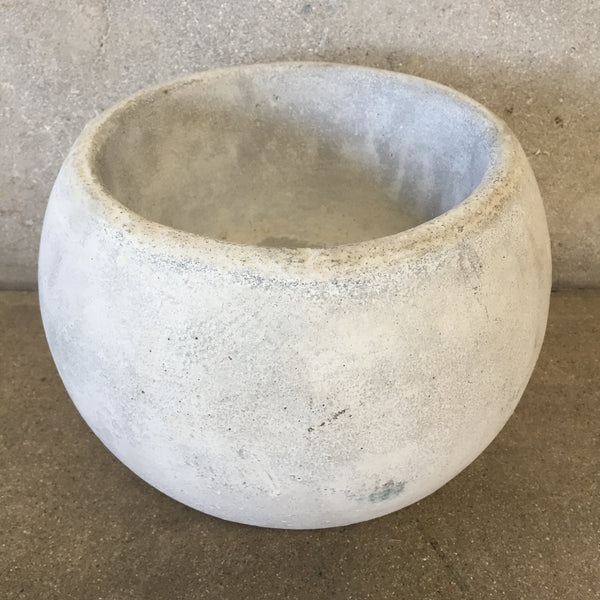 Concrete Bowl Planter