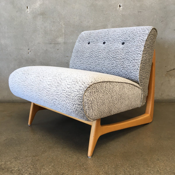 Mid Century Slipper Lounge Chair