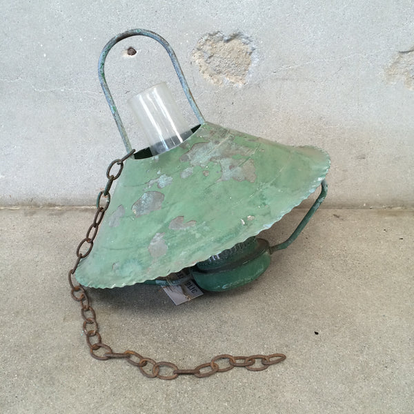 Green Industrial Lantern