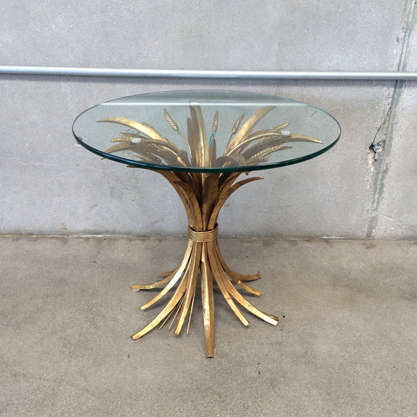 Gold Leaf Hollywood Regency Cocktail Table