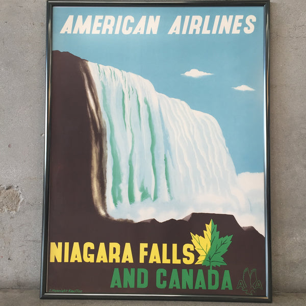 Vintage American Airlines Niagra Falls Travel Poster