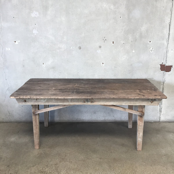 Antique Folding Harvest Table