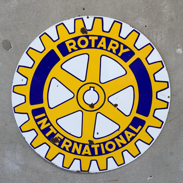 Old Porcelain Rotary International Sign