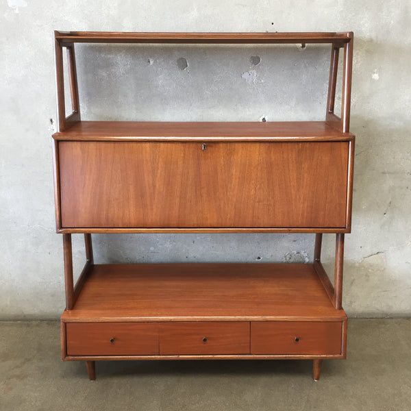 Mid Century Secretary Desk / Bookcase