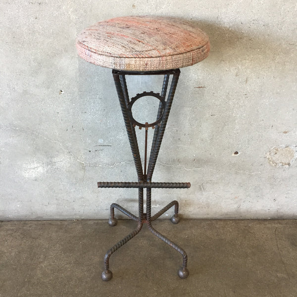 Industrial Stool with Rebar Base