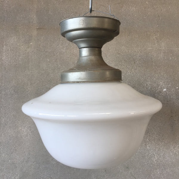 Vintage 1930's School House Lamp Fixture
