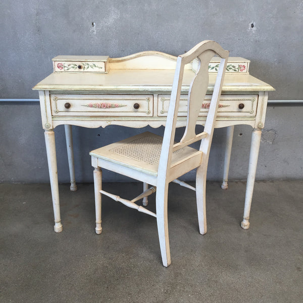 Vintage French Desk & Chair