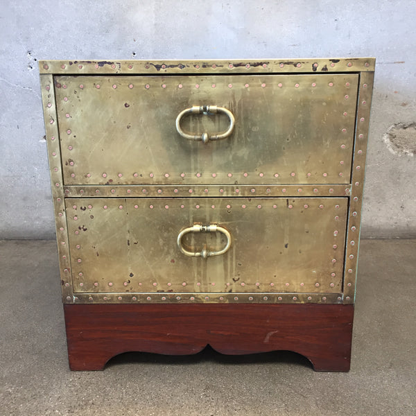 Vintage Spanish Brass Trunk / Coffee Table
