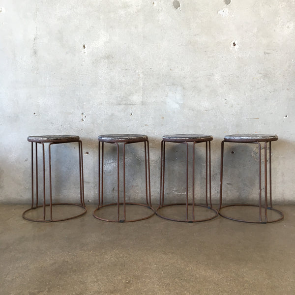 Vintage Industrial Stacking Stools
