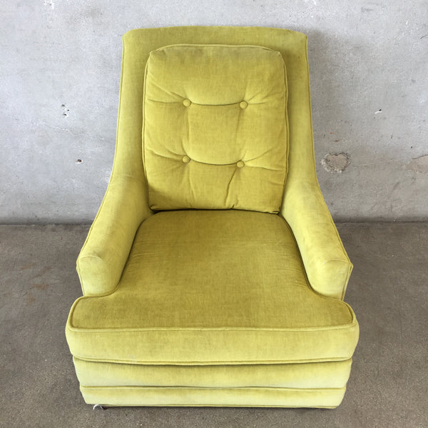 Vintage Green Velvet Chair