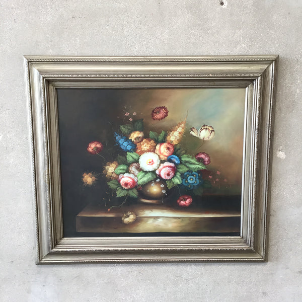 Floral Still Life by Listed Artist M. Aaron