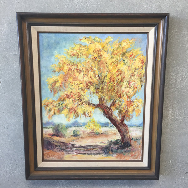 Vintage Signed Oil Painting Signed C.Davis