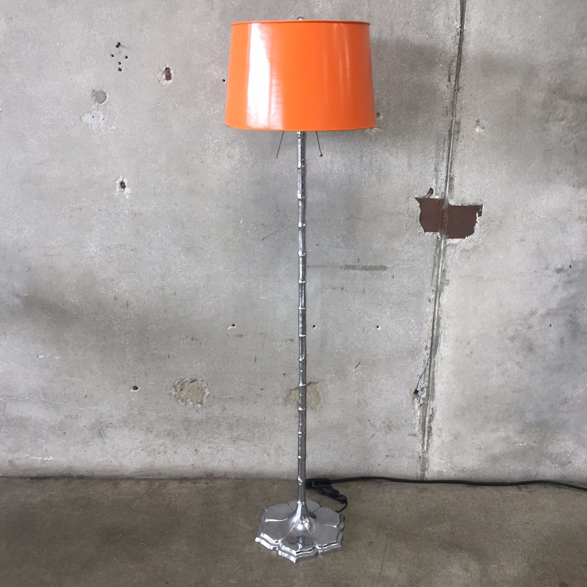 Hollywood Regency 1970 s Chrome Bamboo Floor Lamp – UrbanAmericana