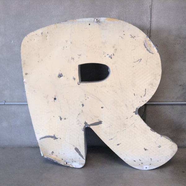 "Large Metal Letter ""R"" from Sign"