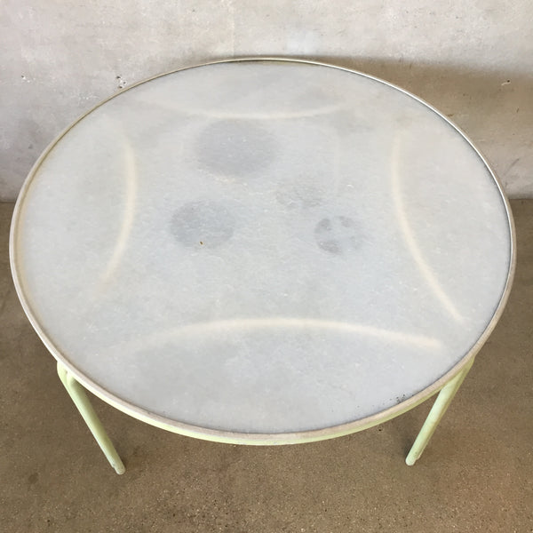 Mint Green Round Patio Table By Brown Jordan