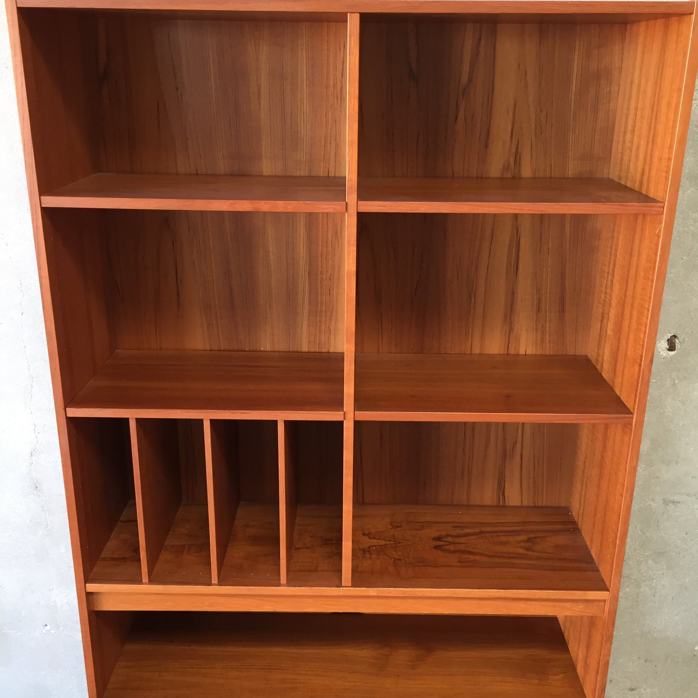 Danish Teak Bookshelf With Cabinet
