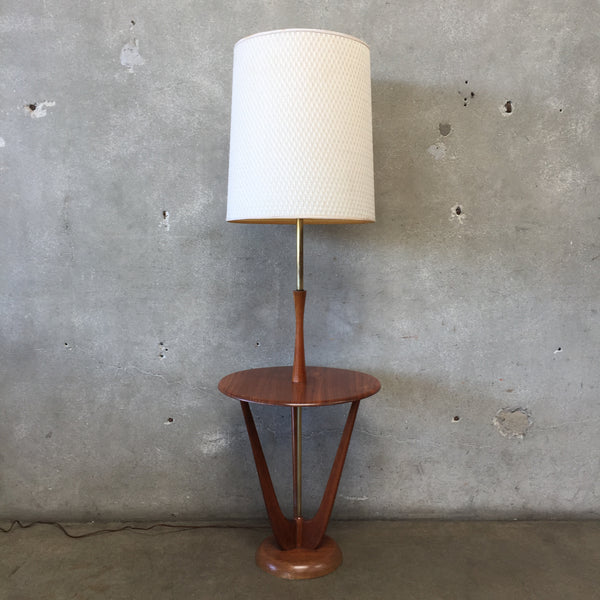 Mid Century Pearsall Floor Lamp Side Table