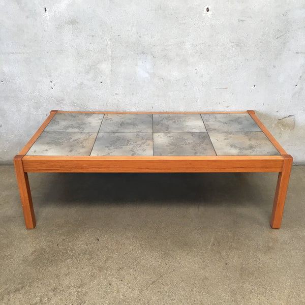 Danish Mid Century Tile Top Coffee Table