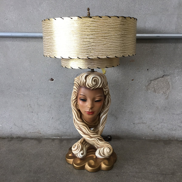 Rare Chalkware Head Lamp