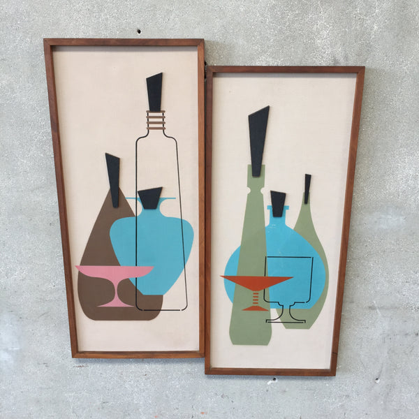 Pair of Mid Century Wall Art by Jonero