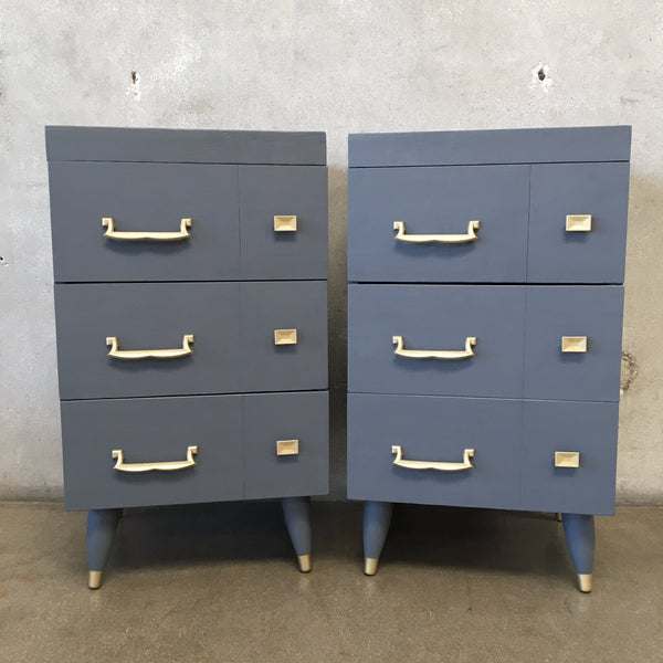 Vintage 1950's Painted Nightstands