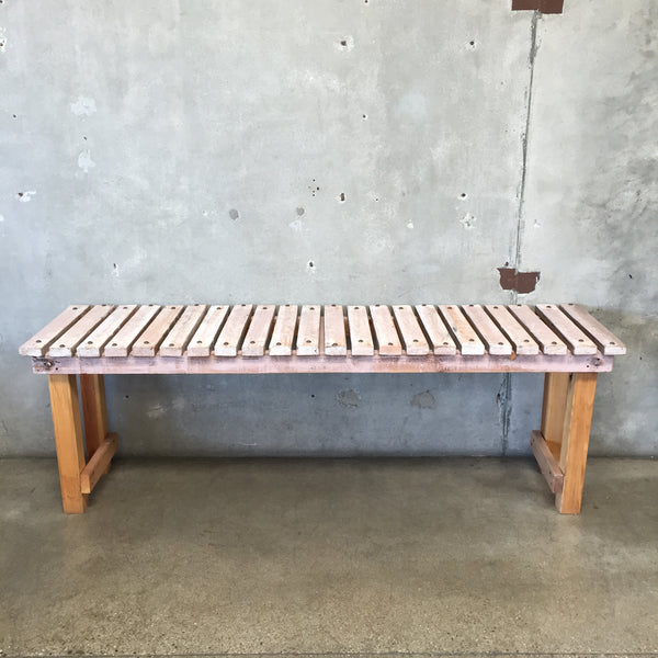 Vintage Pink Top Studded Wood Table