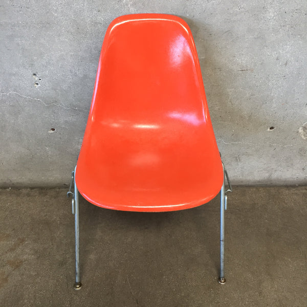 Mid Century Herman Miller Orange Chair